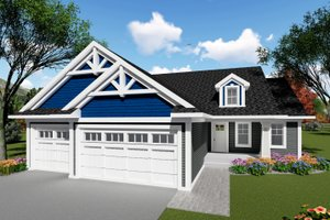Home Plan - Ranch Exterior - Front Elevation Plan #70-1414