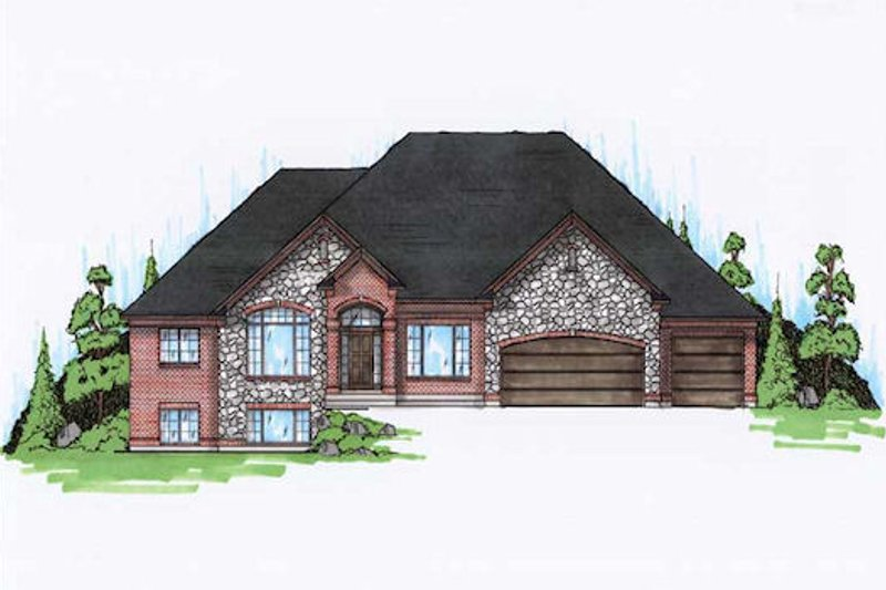 Dream House Plan - Traditional Exterior - Front Elevation Plan #5-317