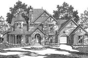 European Style House Plan - 5 Beds 4.5 Baths 5156 Sq/Ft Plan #141-150 Exterior - Front Elevation