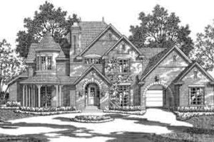 European Exterior - Front Elevation Plan #141-150