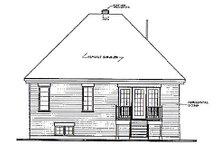 Home Plan Design - European Exterior - Rear Elevation Plan #23-109