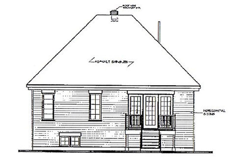 European Exterior - Rear Elevation Plan #23-109 - Houseplans.com