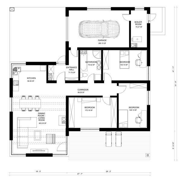 Bungalow Floor Plan - Main Floor Plan Plan #906-22