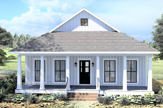 Farmhouse Exterior - Front Elevation Plan #44-222