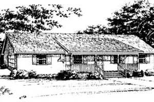 Ranch Exterior - Front Elevation Plan #10-127