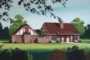 European Style House Plan - 3 Beds 2 Baths 1600 Sq/Ft Plan #45-319 Exterior - Other Elevation