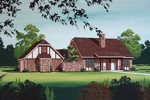 Architectural House Design - European Exterior - Other Elevation Plan #45-319