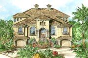 Beach Style House Plan - 3 Beds 2.5 Baths 5664 Sq/Ft Plan #27-522 Exterior - Front Elevation