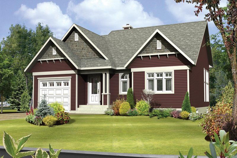 Country Style House Plan - 2 Beds 1 Baths 1315 Sq/Ft Plan #25-4635 Exterior - Front Elevation