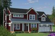 Traditional Style House Plan - 3 Beds 3.5 Baths 2763 Sq/Ft Plan #51-529 Exterior - Front Elevation