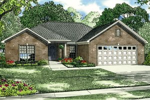 Southern Exterior - Front Elevation Plan #17-137