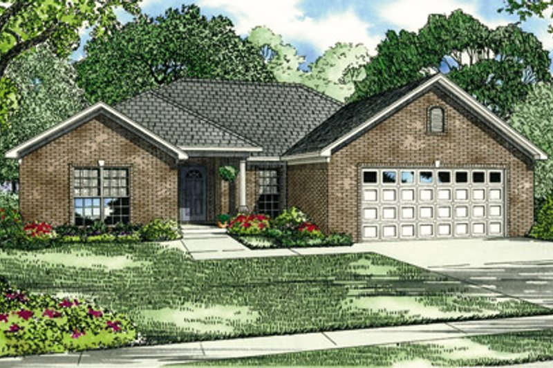 Southern Exterior - Front Elevation Plan #17-137 - Houseplans.com
