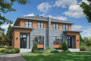 Contemporary Exterior - Front Elevation Plan #25-4516