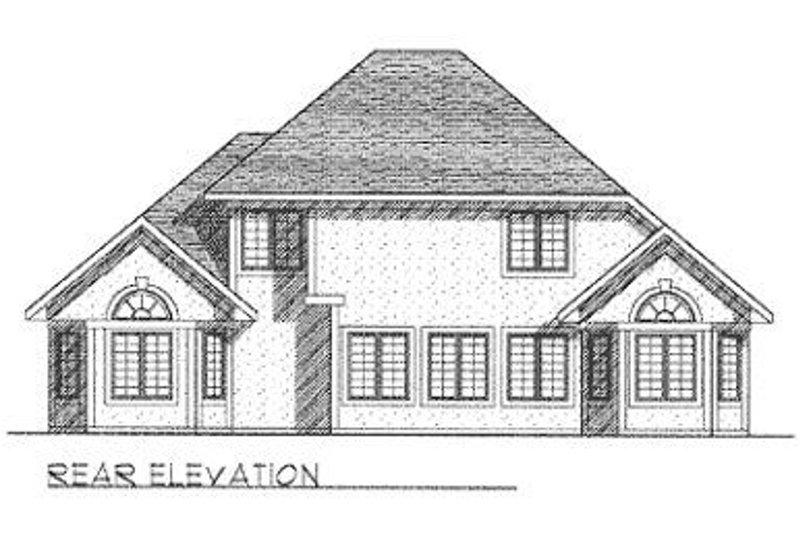 Traditional Exterior - Rear Elevation Plan #70-432 - Houseplans.com