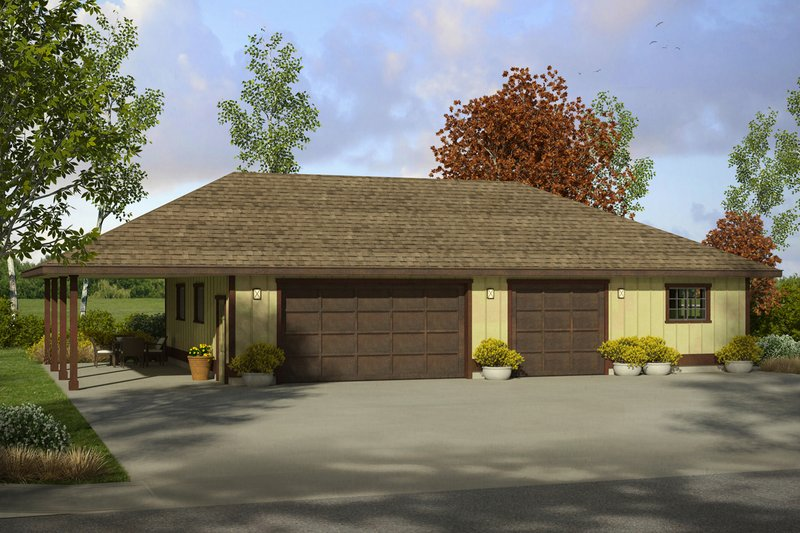 House Plan Design - Prairie Exterior - Front Elevation Plan #124-994