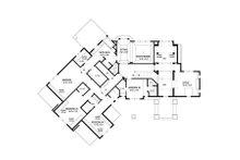 Traditional Floor Plan - Upper Floor Plan Plan #56-599