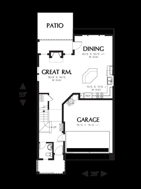 Home Plan - Craftsman Floor Plan - Main Floor Plan #48-631