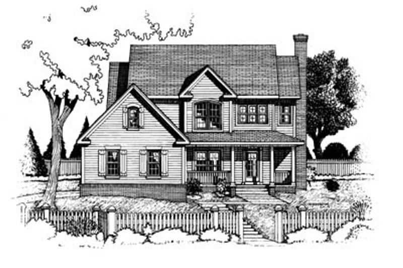 Home Plan - Country Exterior - Front Elevation Plan #20-223