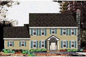 Classical Exterior - Front Elevation Plan #3-256