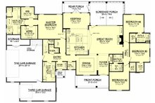 Traditional Floor Plan - Main Floor Plan Plan #430-127
