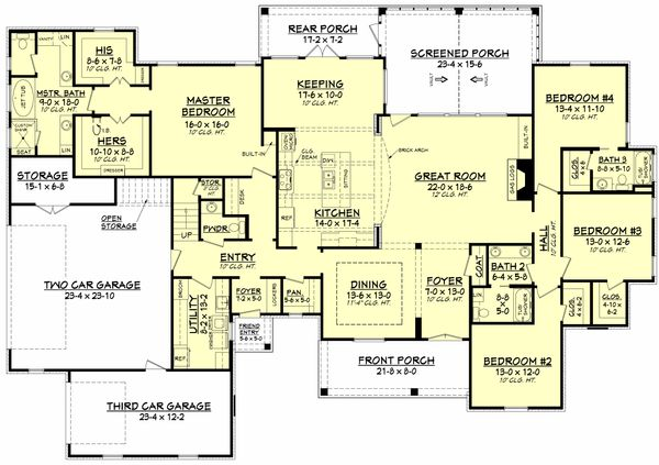 Traditional Floor Plan - Main Floor Plan Plan #430-127