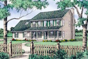 Country Exterior - Front Elevation Plan #405-112