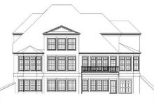 Dream House Plan - European Exterior - Rear Elevation Plan #119-312