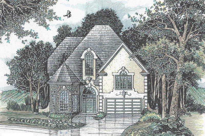 Dream House Plan - Mediterranean Exterior - Front Elevation Plan #405-342