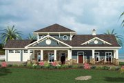 Craftsman Style House Plan - 4 Beds 4.5 Baths 2366 Sq/Ft Plan #56-714 Exterior - Front Elevation