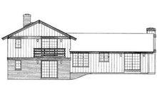 House Blueprint - Exterior - Rear Elevation Plan #72-205