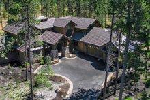 Craftsman style house design, aerial elevation photo