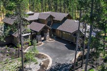 Craftsman style house design, aerial elevation photo