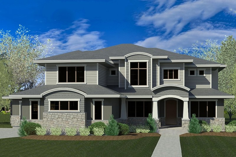 Dream House Plan - Contemporary Exterior - Front Elevation Plan #920-46