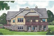 Craftsman Style House Plan - 3 Beds 3.5 Baths 3244 Sq/Ft Plan #453-12 Exterior - Rear Elevation