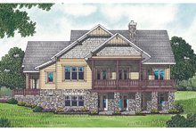 Craftsman Exterior - Rear Elevation Plan #453-12