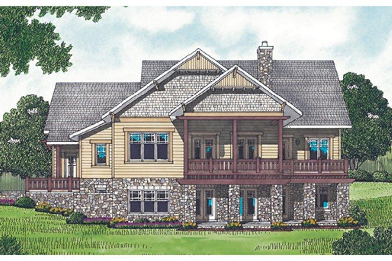 Craftsman Exterior - Rear Elevation Plan #453-12 - Houseplans.com