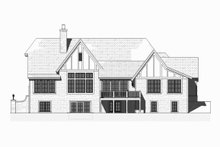 Tudor Exterior - Rear Elevation Plan #901-119