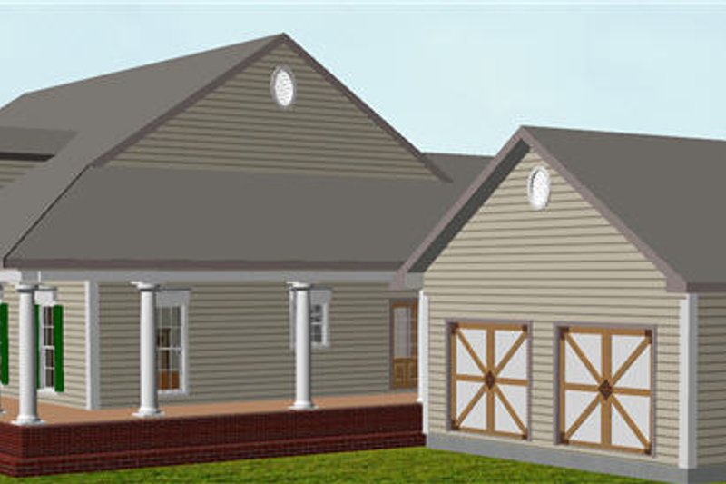 Country Exterior - Other Elevation Plan #44-174 - Houseplans.com