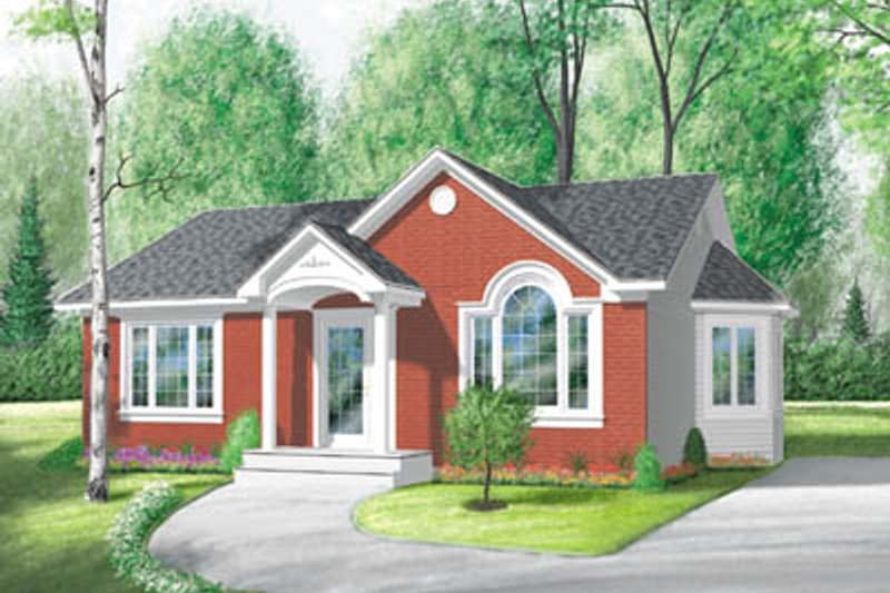 Cottage Exterior - Front Elevation Plan #23-117
