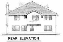 European Exterior - Rear Elevation Plan #18-252