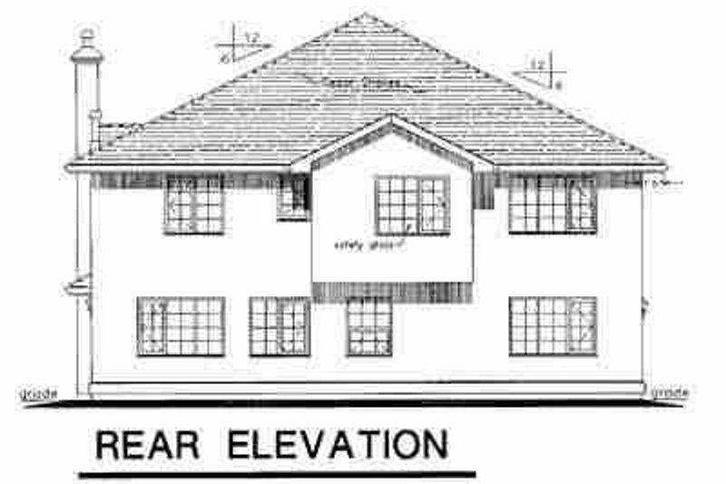 European Exterior - Rear Elevation Plan #18-252 - Houseplans.com