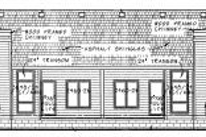 Traditional Exterior - Rear Elevation Plan #20-614 - Houseplans.com