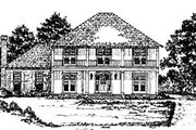 European Style House Plan - 4 Beds 3.5 Baths 2948 Sq/Ft Plan #36-224 Exterior - Front Elevation