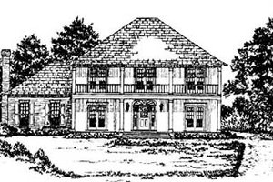 European Exterior - Front Elevation Plan #36-224