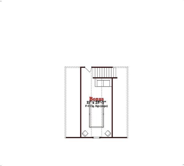 Traditional Floor Plan - Upper Floor Plan Plan #63-109