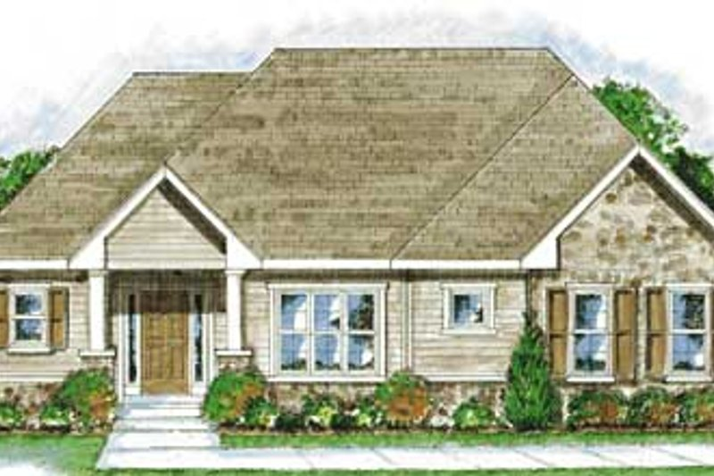 Traditional Exterior - Front Elevation Plan #20-1381 - Houseplans.com