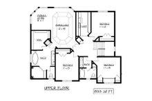 European Floor Plan - Upper Floor Plan Plan #320-502