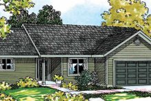 Country Exterior - Front Elevation Plan #124-368