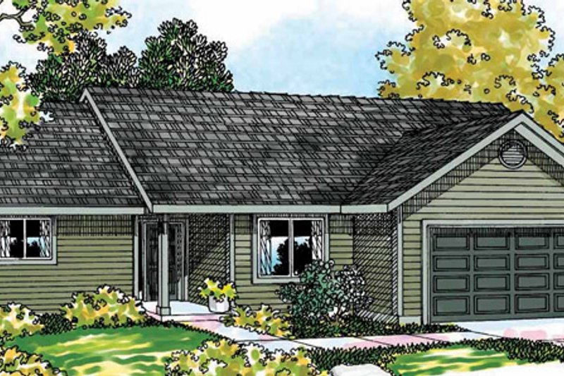 Home Plan - Country Exterior - Front Elevation Plan #124-368