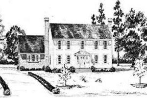Colonial Exterior - Front Elevation Plan #36-423